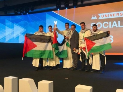 """INJAZ Palestine"" won the award for the best student company with social impact, ""Inspire Company"", for the year 2018 in the INJAZ Al-Arab competition."