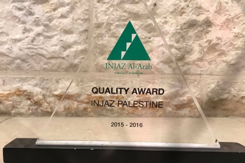 """INJAZ Palestine"" received the compliance and quality award for the years 2015-2018 for its commitment to the standards related to the mechanism and quality of implementing the organization's strategic plans and programs."